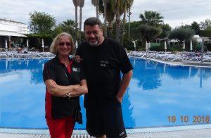 Petanque Espagne Marisa avec Philippe Quintais